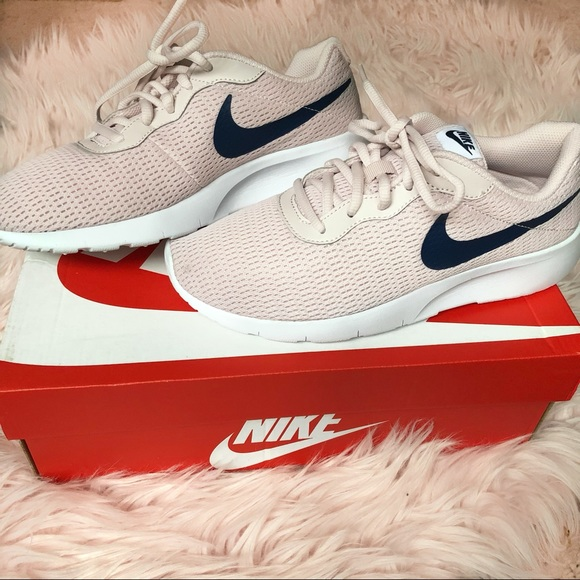 Blush Pink And Navy Blue Nike Sneakers